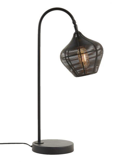 Tafellamp met draadmetaal kap-3246ZW