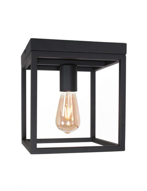 Vierkante metalen frame plafondlamp-3264ZW