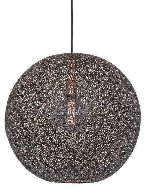 Opengewerkte bollamp met goud-3268ZW