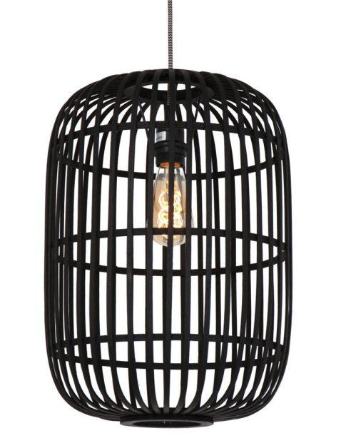 Hanglamp met bamboe spijlen-3271ZW