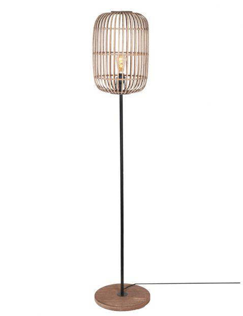 Vloerlamp met bamboe spijlen-3275BE