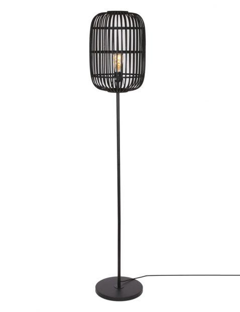 Vloerlamp met bamboe kap-3275ZW