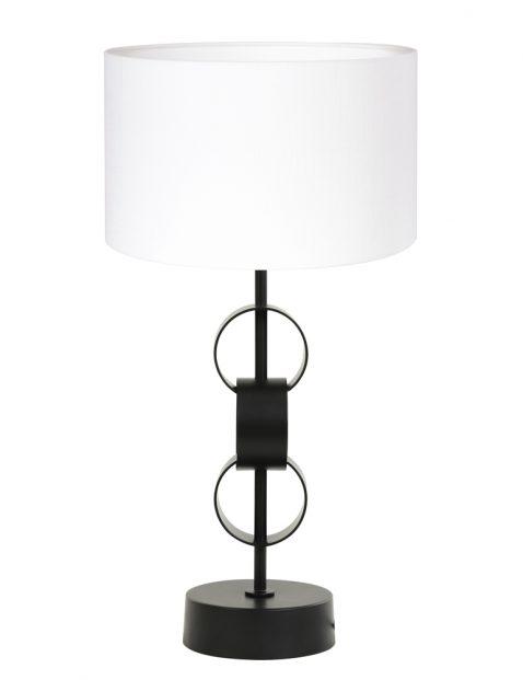Lampenvoet met witte kap-8257ZW