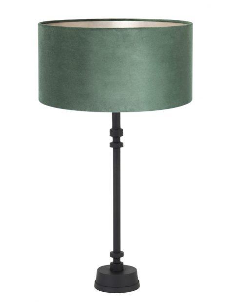 Groene fluwelen schemerlamp op smalle voet-8275ZW