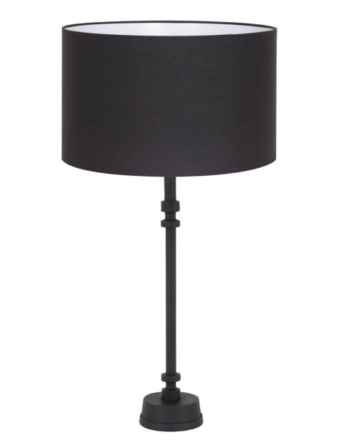 Zwarte dressoir lamp met gouden binnenkant-8276ZW