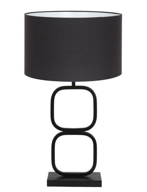 Tafellamp zwarte kap met gouden binnenkant-8282ZW