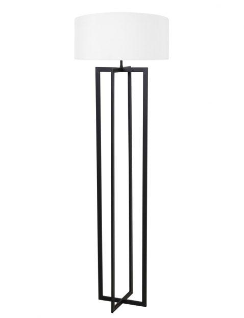 Schemer vloerlamp met witte kap-8285ZW