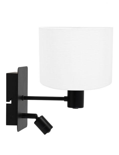 Wandlamp met kap en richtspotje-8291ZW