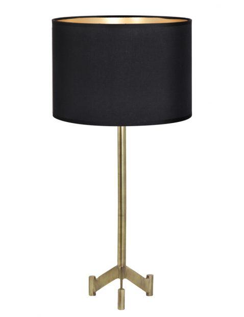 Zwart met gouden tafellamp-8308BR