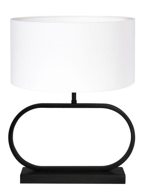 Ovale tafellamp met witte kap-8314ZW