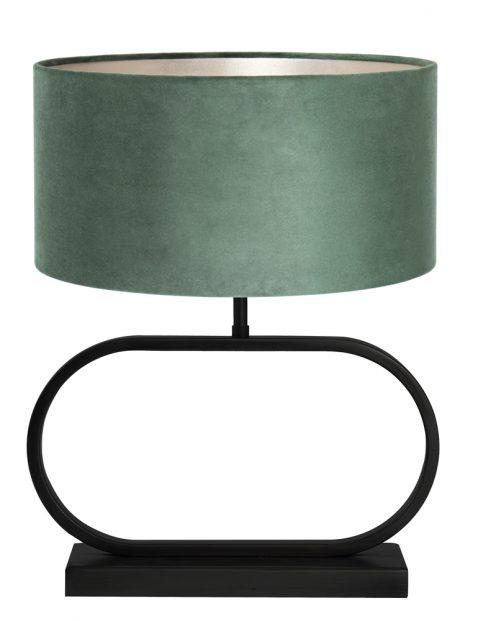 Lampenvoet met groene velvet kap-8316ZW