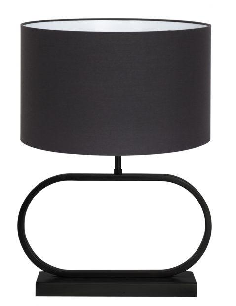 Lampenvoet ovaal met zwarte kap-8317ZW