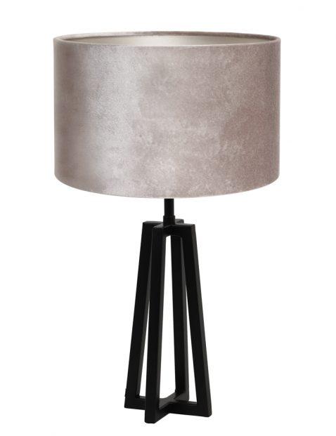 Strakke driehoekige voet met zilveren kap-8319ZW