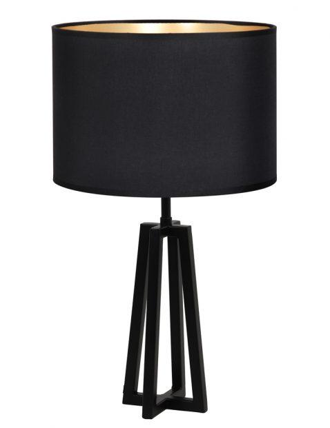 Zwarte tafellamp met lampenkap-8320ZW