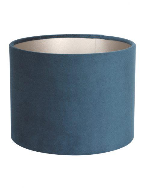 Blauwe velours lampenkap 20 cm-K3084ZS