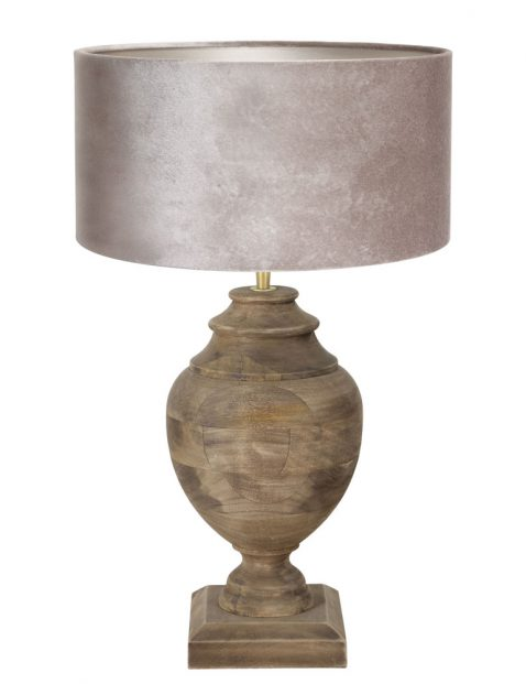 Houten vaaslamp-7070B