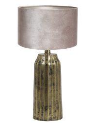 Sjieke tafellamp met kap-8381GO